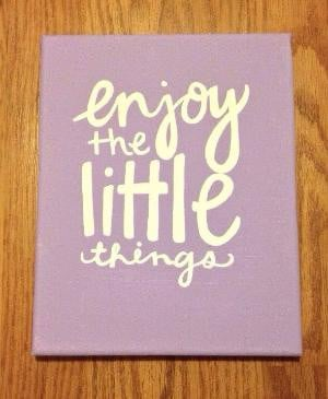 Little Things Canvas Quote by kalligraphy on Etsy, $25.00 by anastasia