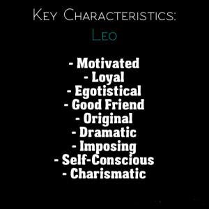 Leo Key Characterstics