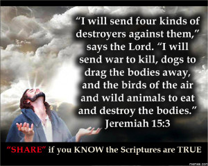 Bible Quotes: Jeremiah 15:3