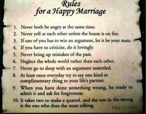 Husband Love Quotes: Rules for a Happy Marriage