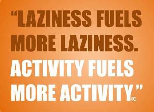 Laziness fuels more laziness