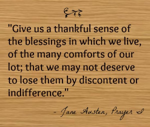 Happy Thanksgiving (from Jane Austen and Me)