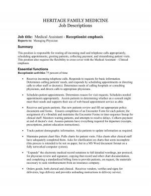 Medical Assistant Job Description for Resume