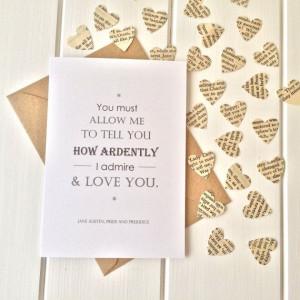 Pride And Prejudice Valentine's Card by LiteraryEmporium on Etsy, £3 ...