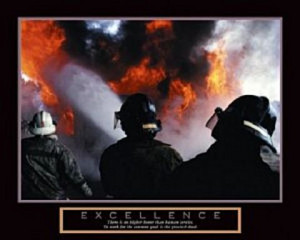 Firemen Excellence Poster 20x16