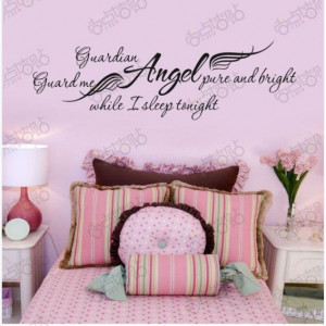 Girls Removable Word Wall Art Stickers DIY Decal Paper Quote Bedroom ...