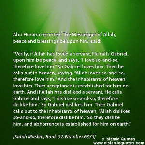 Islamic quotes about the Love from Allah
