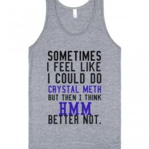 Crystal Meth-Unisex Athletic Grey Tank
