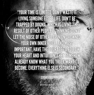 believe we can learn a lot from steve jobs and so here is a ...