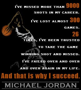 Motivational sports quote by Michael Jordan