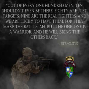 "Army Rangers ""Warrior"" Poster (RANGERV45)"