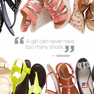 girl can never have too many shoes.