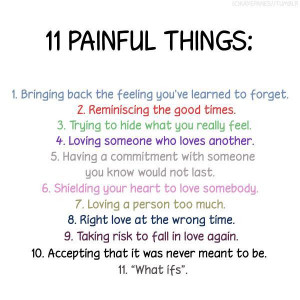 Sad Love Quotes   Painful Things