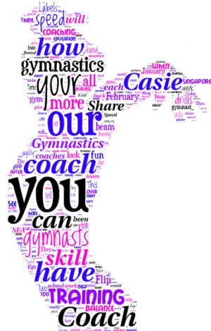 ... you all might come up with, please share your gymnastics word clouds