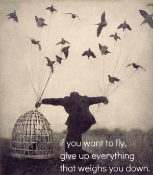 birds, cage, quote