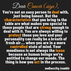 Zodiac City dear Cancer (sign): not easy to deal with, special ...