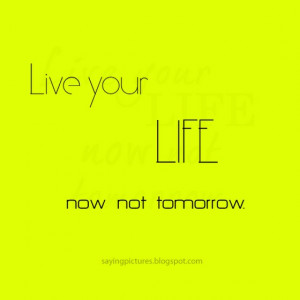 live your life quotes and sayings
