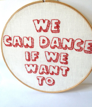We Want To: Embroidered Music Lyrics, by Men Without Hats. embroidery ...