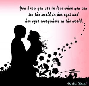 Love quotes for her - You know you are in