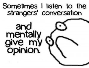 Listening to Strangers' Conversation – Funny Quotes
