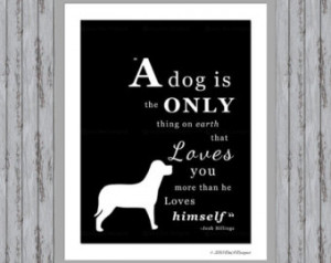 ... Colors Dog Print Quote Man's Best Friend Frameable Art DIY Print