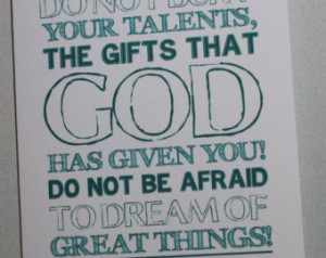 Dream of Great Things, Graduation Card, Pope Francis Quote, 5x7, set ...