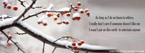 As long as i do no harm to others - Life Quotes FB Cover
