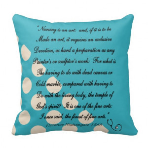 Nurse Graduation Pillow Florence Nightingale Quote