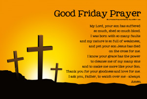 ... Calvary. It is the Friday before Easter and the final day of Christ's