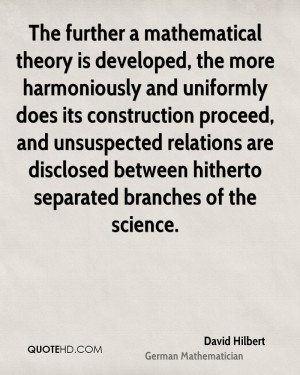 David Hilbert Science Quotes