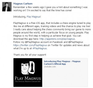 Magnus Carlsen is introducing his official app - Play Magnus!