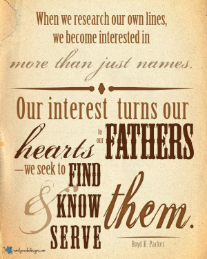 LDS Family History Quotes