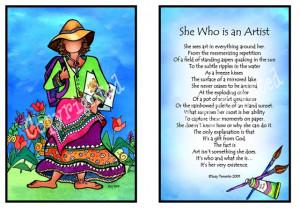 She who is an artist - Suzy Toronto