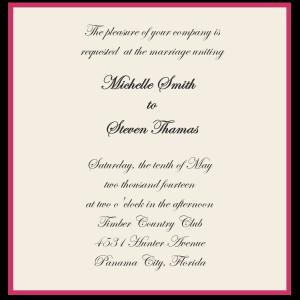 Wedding Invitation wording Bride & Groom sponsored