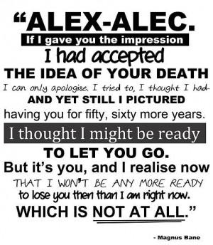 Magnus Bane quote, City of Fallen Angels