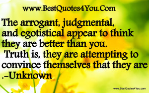 Arrogant quote #1