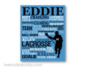 Popular items for lacrosse wall art