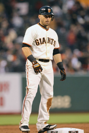 Marco Scutaro Marco Scutaro 19 of the San Francisco Giants stands on