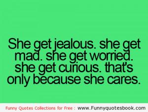 If she was Getting Jealous in Love
