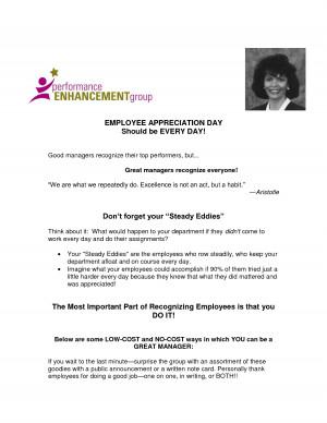 Employee Appreciation Letter For Hard Work