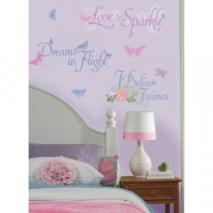 ... PHRASES wall stickers 15 Glitter decals PIXIE DUST POWER quotes