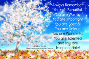 You-are-Beautiful-You-are-Worthy-You-are-Important-You-are-Special-You ...