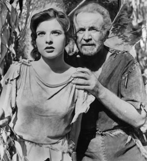 Jean Peters & Walter Brennan