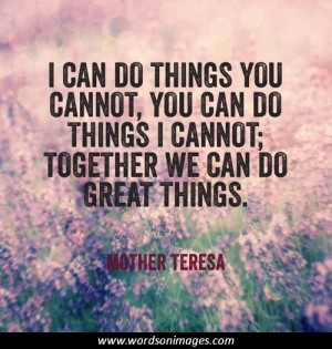 Motivational quotes mother teresa