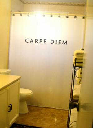 Carpe Diem Shower Curtain Quote Bathroom Decor Kids bath Seize The Day ...