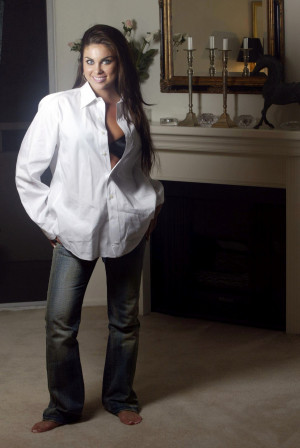 Nadia Bjorlin Photoshoot Jeans