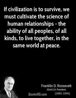 Franklin D. Roosevelt Science Quotes
