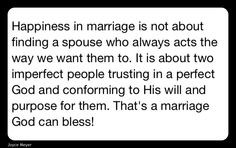 happiness marriage more life answers meyers quotes joyce meyers happy ...