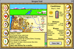 Oregon Trail. I loved to hunt! The buffalo were so easy, but if you've ...