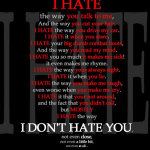about love and hate can t stop loving you hate it